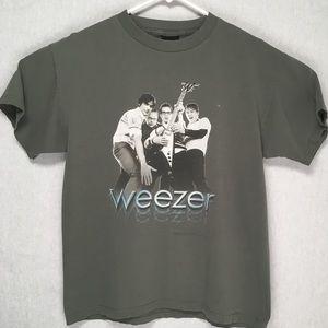 Weezer 2002 Hyper Extended Midget Tour t-shirt L